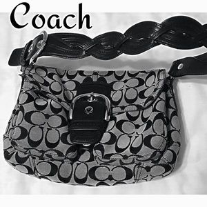 Classic Coach Bag with Braid Strap